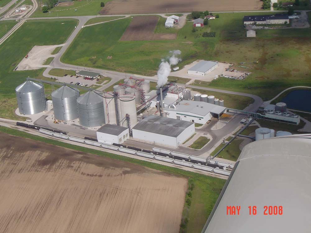 aerial lincoln land plant